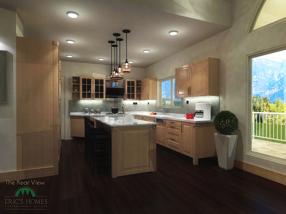 The Rearview kitchen rendering