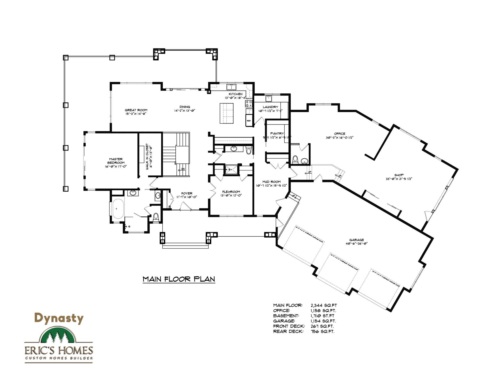 Dynasty brochure main floor plan)