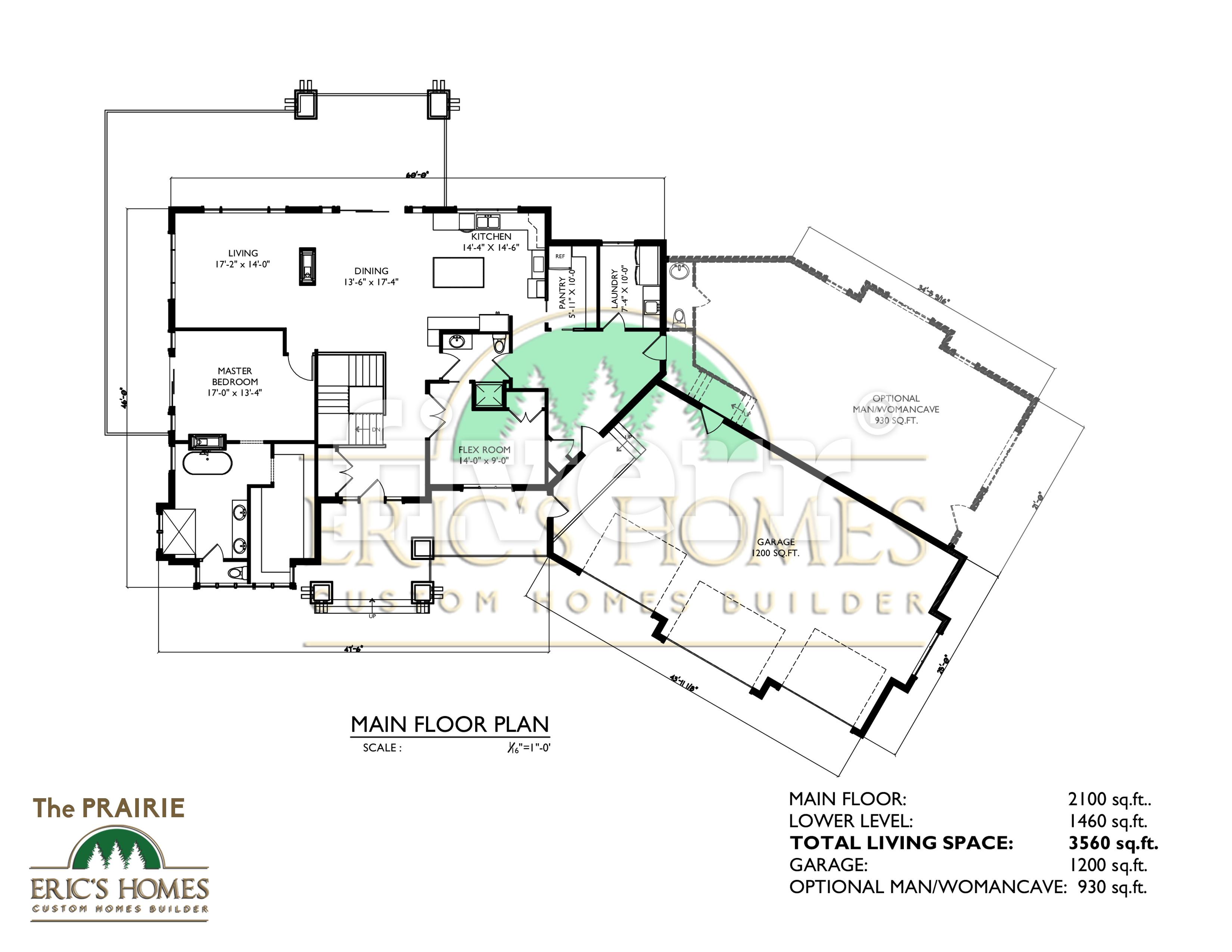 The Prairie main floor brochure plan